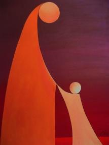 Das Leben - III, Acryl, 2009, 30x40