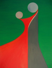Das Leben - XI, Acryl, 2009, 30x40