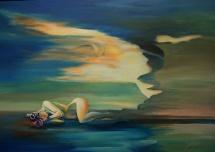 Durchschaut, Acryl auf Keilrahmen, 2012, 100x70
