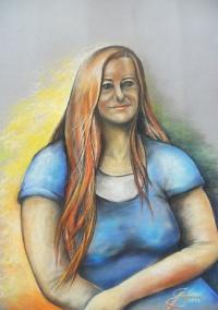 Franca Bielig, Kreidezeichnung, 2012, 50x70