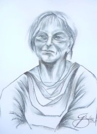 Rosemarie Wenger, Kreidezeichnung, 2012, 50x70