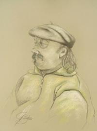 Reinhardt Lausch, Kreidezeichnung, 2011, 50x70