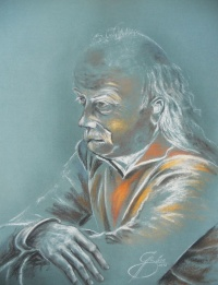 Reinhardt Lausch, Kreidezeichnung, 2012, 50x70