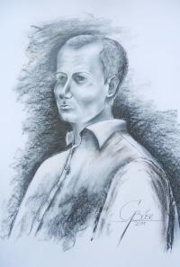 Arne Lietz, Kreidezeichnung, 2011, 50x70