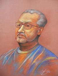 Jürgen Simon, Kreidezeichnung, 2012, 50x70