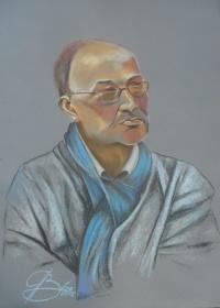 Gerd Hiersick, Kreidezeichnung, 2012, 50x70
