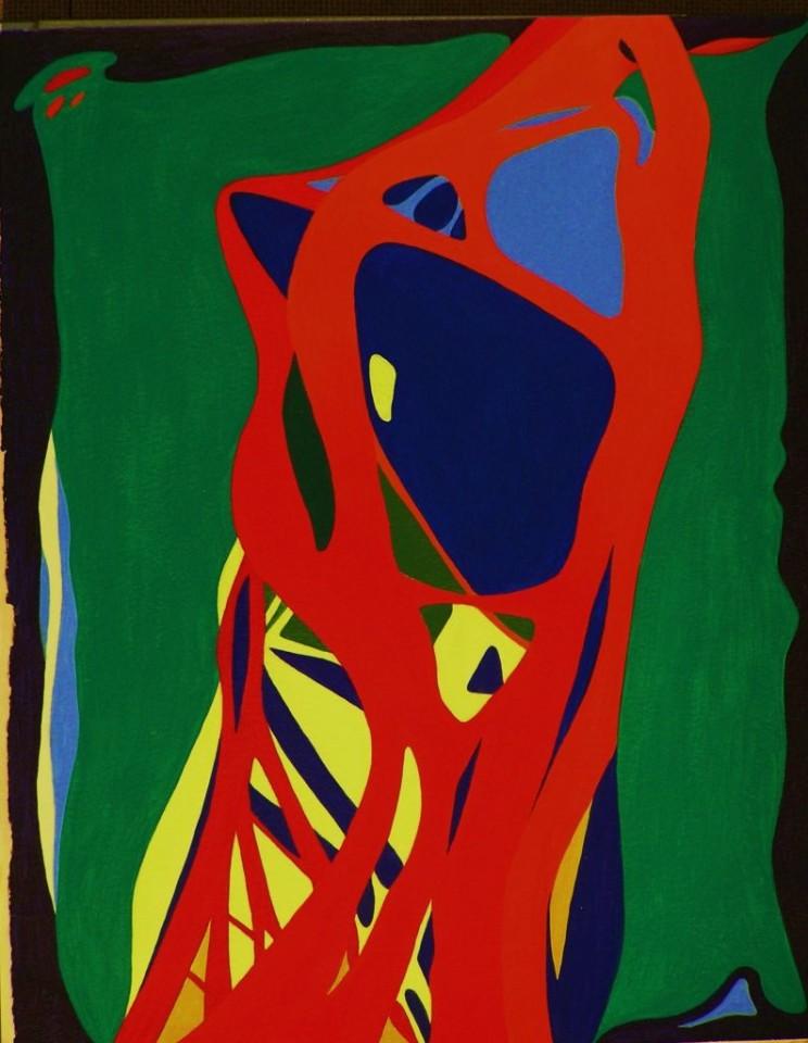 Katze, Acryl, 2004. 25x32