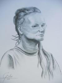 Petra Henkelmann, Kohlezeichnung, 2011, 50x70
