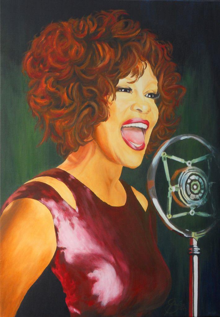 Whitney Houston, Acryl auf Keilrahmen, 2013, 70x100