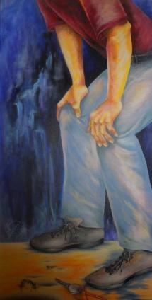 Der Schlüssel, Acryl auf Keilrahmen, 2012, 50x100