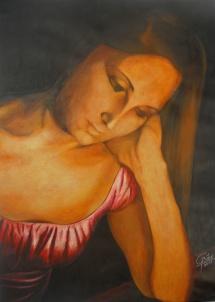 Katharina, Acryl, 2011, 48x68