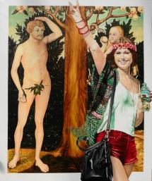 Adams Schuld, Acryl auf Keilrahmen, 2015,