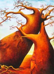 Die Seelen der Bäume -III, Acryl, 2005, 30x40 (verkauft)