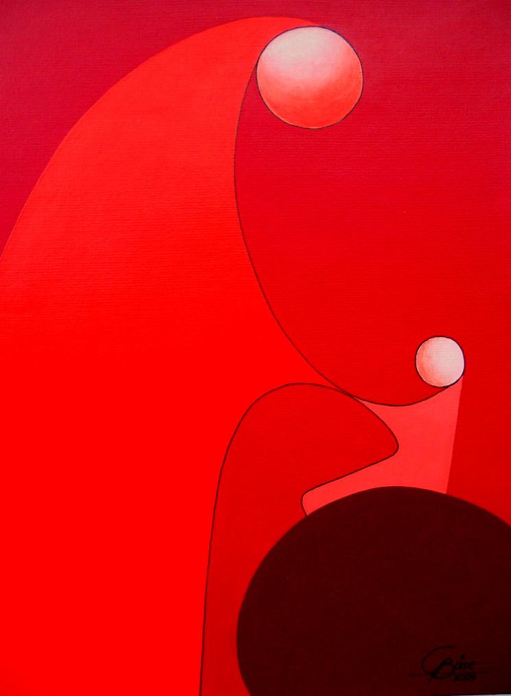 Das Leben - XII, Acryl, 2009, 30x40