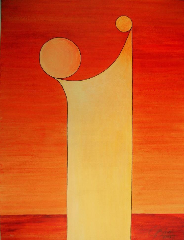 Das Leben - XIV, Acryl, 2009, 30x40