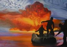 Anfang und Ende, Acryl auf Keilrahmen, 2016, 100x70
